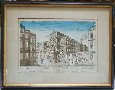 American Revolution Hand Colored Etching, Circa 1770-80, By Chez Basset