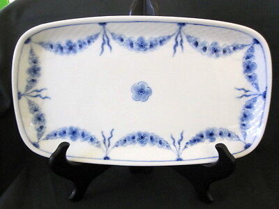 """Vintage Bing Grondahl B&g Empire Tray Blue And White 6 1/4X10 3/4"""""""
