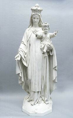 """+ Statue of Mary + Our Lady of Mt. Carmel + 60"""" tall + Fiberglass + chalice co."""