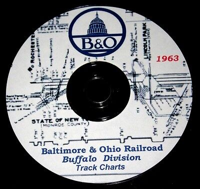 Baltimore & Ohio 1963 Buffalo Division Track Chart PDF Pages on DVD