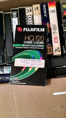 35 LOT OF VHS VIDEO TAPE -  6 Hr T-120 - SOLD AS BLANKS - FROM BUFFALO BILL???