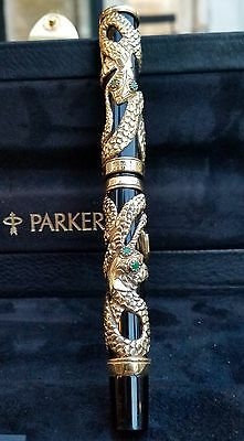 Parker Snake Limited Edition Gold Stylo Plume Fountain Pen Aztec 75 51 Duofold
