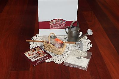 American Girl Doll Addy's RETIRED Gardening Supplies Set, Pleasant Company! NIB!