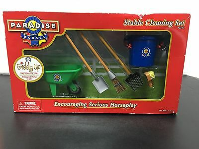 Paradise Horses Stable Cleaning Set New In Box