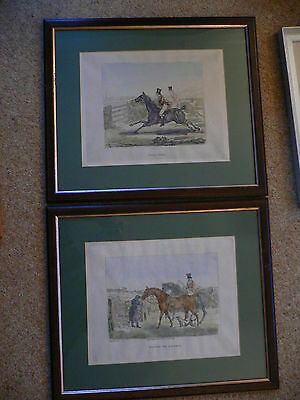 H.Alken. 2 Etchings. Going to Cover and Full Cry. 1823. Original soft-ground.
