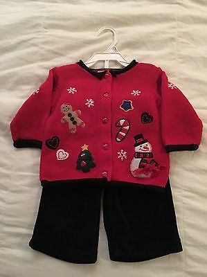 2pc Infant Girls Christmas Outfit New