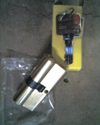 double cylinder EURO LOCK 70mm fixed Cam 2 keys