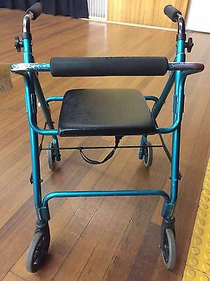 Mobility Walker in Green, Max Wt 100 kg, Height Adjustable
