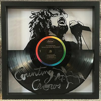 "Counting Crows ""Somewhere Under..."" cut LP record framed art collectible gift"