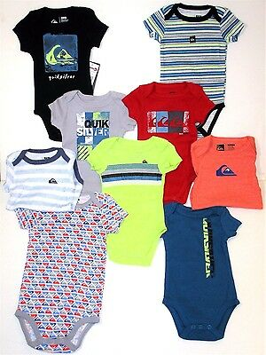 Quiksilver Infant Onsies Boys 0-3,3-6, 6-9 Months New Stock