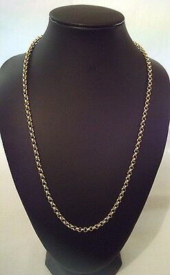 Rrp $1325. Michael Hill (55cm) 10ct Yellow Gold Belcher Chain - AS NEW in Case