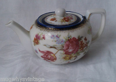 Small English Rose One Cup Teapot Cute 1 cup