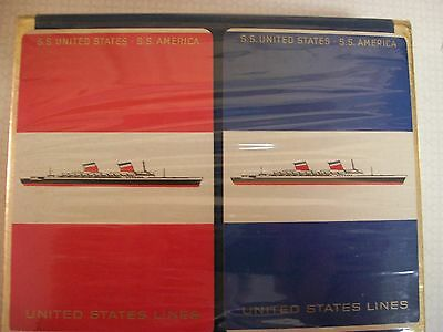 S.S. United States Liner Playing Cards in Original Wrapping