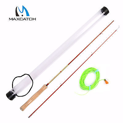"Maxcatch Game Practice Fly Rod Kit 4'3"" 2Sec Learning to Cast Fly Fishing"