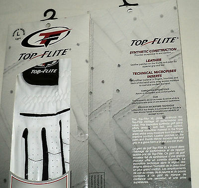 NEW Pair Top Flite XL Ladies Leather Golf Gloves--Women's Regular Left and Right