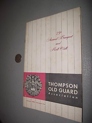 1962 Thompson Products Old Guard 29th Annual Banquet Brochure/Program
