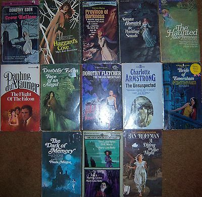 Lot of Lucky 13 Gothic Romance Paperbacks Vintage Romantic Suspense Gothics