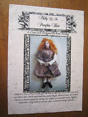 Molly Of The Pumpkin Hair Cloth Doll Pattern By Kate Twohig