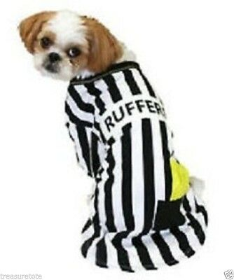 New ! Dog Costume Pet Tee Rufferee Glow in the Dark for Dog Clothes XS  S M L XL