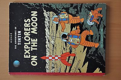 Tintin Explorers on the Moon First Edition Methuen Vintage Collectable