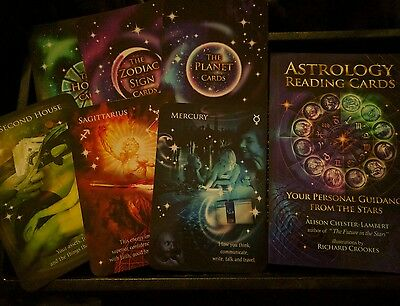 astrology reading cards and book