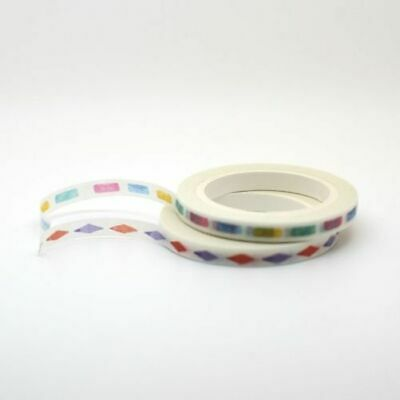 Slim Washi Tape - Shapes Bullet Points 5mm x 8m Planner Travellers Note Book