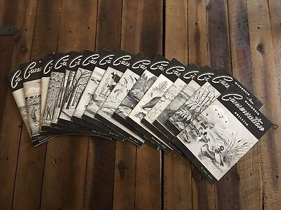 Lot of 15 Vintage 1957-1959 Wisconsin Conservation Bulletins fishing hunting