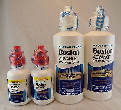 Bausch + Lomb Boston ADVANCE Conditioning & Cleaning Solution/ 2 bottles of each
