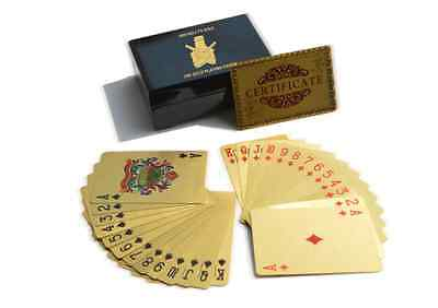 Ned Kelly 24Kt Gold Foil Playing Cards 999.9 Gold Foil Cards Ned Kellys Gold
