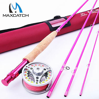 Maxcatch 5WT Fly Fishing Rod Combo 9FT 4SEC Fly Rod & 5/6WT Fly Reel & Fly Line