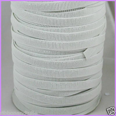 12mm Non Roll Ribbed Elastic white 1m High Quality sewing waistbands crafts