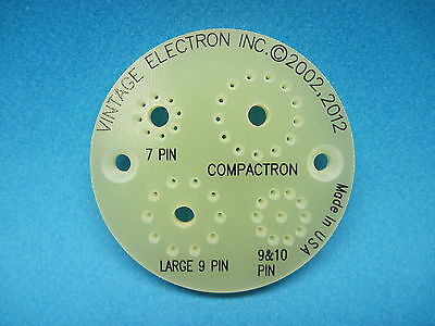 NEW Vacuum Tube Tester Pin Straightener - 7, 9, 10, Compactron, Magnoval, Novar