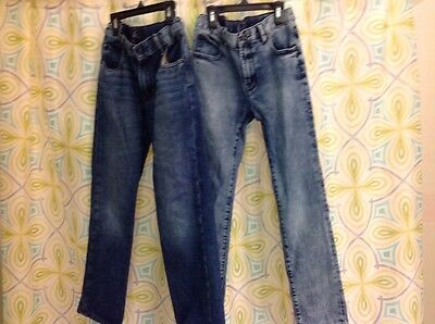 lot 2 pairs boys gap jeans skinny fit slim straight fit size 12