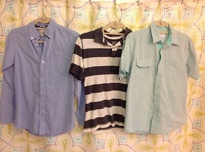 Lot of 3 boys 10/12 shirts. Polo, button up, longsleeve, short