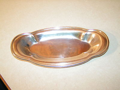 Seaboard Railroad Vintage Silver Plated Bread Tray Top Marked & B/S