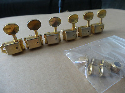 Relic Aged Left Handed KLUSON VINTAGE Strat MACHINE HEADS Gold Tuners tuning