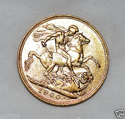 GOLD SOVEREIGN 1900 (P) Queen Victoria (Very Fine)