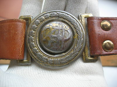 Polish Scout  belt buckle -  skin belt - ZHP (tagged - Polish stamps)