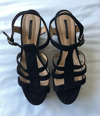 Black Suede Tony Bianco Wedges Size 8 1/5