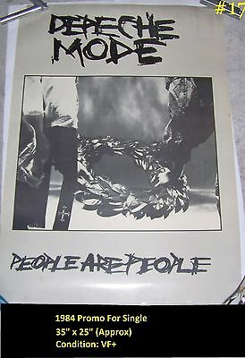 "35""X25"" 1984 Depeche Mode People Are People Promo Poster Some Great Reward"
