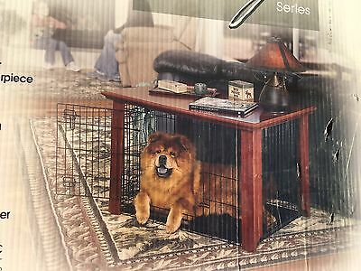 Dog Crate Wood Pet Kennel Wooden Side End Table Wire Cage Cover LARGE NEW