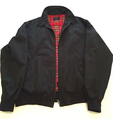 Men's black fred perry bomber jacket, size 42
