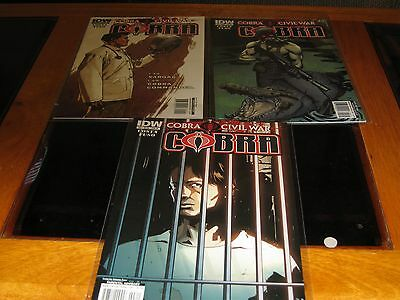 Issue 1-3 of the 2011 Cobra comic book series
