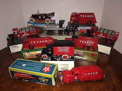 Lot Of 9 Ertl Texaco Truck Collectible Banks