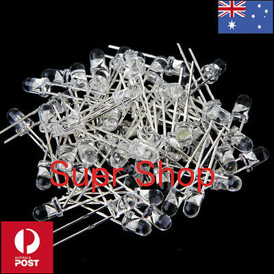 10 Pcs of 5mm White Ultra-Bright Light Emitting Diode's (LED) 15000MCD