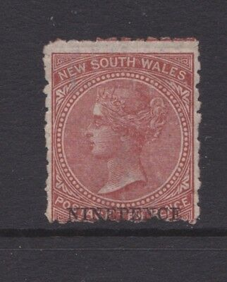 AUSTRALIA NSW 1878 9d on 10d Red Brown, OPTED, QV, MINT/MH SG 220 CV$130 (CK92)
