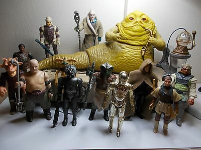 Vintage Star Wars Jabba the Hutt Set complete 1983  with 11 figures