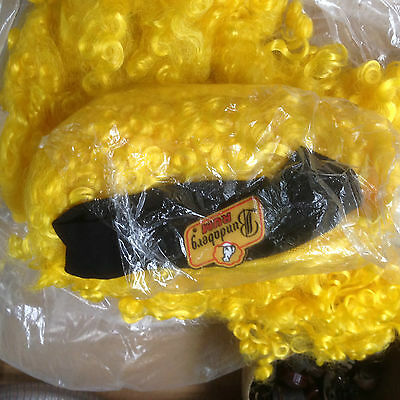 NEW Bundy Rum promotional rugby international yellow wigs NEW a must collector