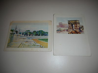 VINTAGE POSTCARDS ROME ITALY a total of 2 postcards