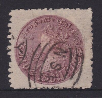 NSW 1860 COIN Issue 5/- Purple Fine Used  (CK92)